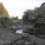 Eventos extremos: erosión en cárcavas durante un evento de lluvia extraordinario (190 mm en 36 h, abril de 2014).